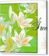 Lilies Greeting Card Canvas Print