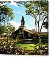 Liliuokalani Church - Haleiwa Hawaii Canvas Print