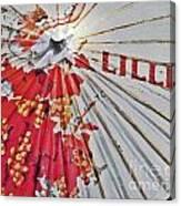 Lillet Parasol Canvas Print