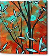 Lilly Pulitzer Inspired Abstract Art Colorful Original Painting Spring Blossoms By Madart Canvas Print