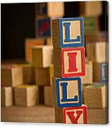 Lily - Alphabet Blocks Canvas Print