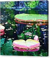 Lily Leaves Painterly  Canvas Print