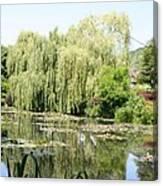 Lily Pond In Monets Garden Canvas Print