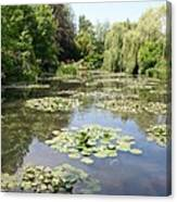 Lily Pond - Monets Garden Canvas Print