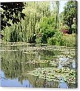 Lily Pond - Monets Garden - France Canvas Print