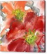 Lily Wisps II Canvas Print