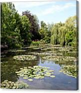Lilypond Monets Garden Canvas Print