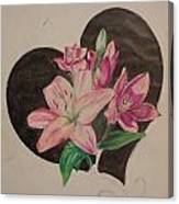 Lilys Of Love Canvas Print