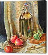 Lime And Apples Still Life Canvas Print