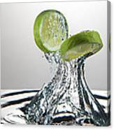 Lime Freshsplash Canvas Print