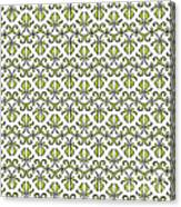 Lime Green And White Vines Canvas Print