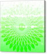 Lime Green Spirograph Canvas Print