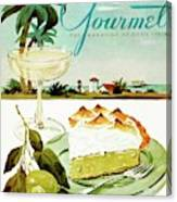 Lime Meringue Pie With Champagne Canvas Print