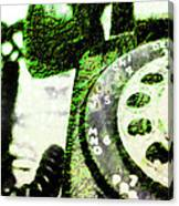 Lime Rotary Phone Canvas Print