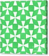 Lime Twirl Canvas Print