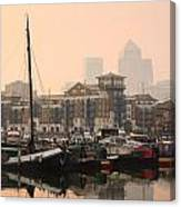 Limehouse Basin In London. Canvas Print