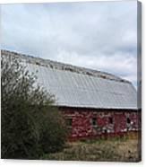 Limestone County Red Barn Canvas Print