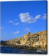 Limestone Rock, Mediterranean Sea, Malta Canvas Print