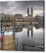 Limmat River Reflections Canvas Print