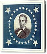 Lincoln 1860 Presidential Campaign Banner - Bust Portrait Canvas Print