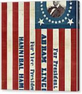 Lincoln 1860 Presidential Campaign Banner Canvas Print