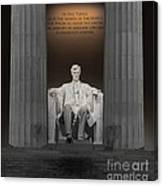Lincoln And Columns Canvas Print