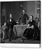 Lincoln And Family Canvas Print