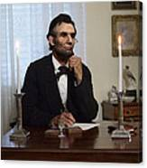 Lincoln At His Desk 2 Canvas Print