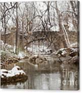 Lincoln Bridge In Winter Canvas Print