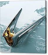 Lincoln Capri Hood Ornament Canvas Print