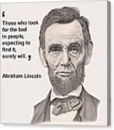 Lincoln Card Canvas Print