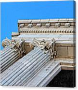 Lincoln County Courthouse Columns Looking Up 01 Canvas Print