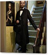 Lincoln Descending Stairs 2 Canvas Print