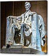 Lincoln In Memorial Canvas Print