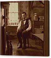 Lincoln In The Attic Canvas Print