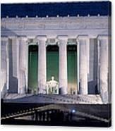 Lincoln Memorial At Dusk, Washington Canvas Print