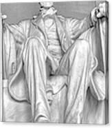 Lincoln Memorial Black/white Hdr Canvas Print