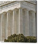 Lincoln Memorial Pillars Canvas Print