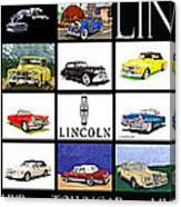 Poster Of Lincoln Cars Canvas Print