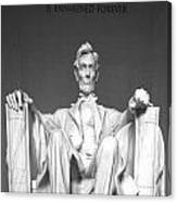 Lincoln Sitting Canvas Print