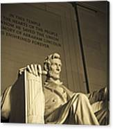 Lincoln Statue In The Lincoln Memorial Canvas Print