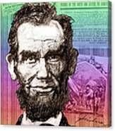 Lincoln's Billboard Of History Canvas Print
