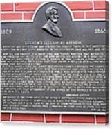 Lincoln's Gettysburg Address Plaque Canvas Print