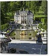 Linderhof And Royal Garden Canvas Print