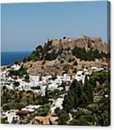 Lindos Acropolis Looking Seaward Canvas Print
