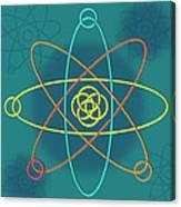 Line Atomic Structure Canvas Print