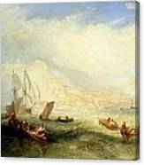 Line Fishing - Off Hastings Canvas Print