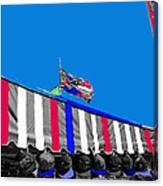 Line Of Hats Tent Us Confederate Flags Tucson Arizona 1984-2012 Canvas Print