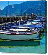 Lined Up Fleet In Sicily Canvas Print