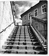 Lines On The Stairs Canvas Print